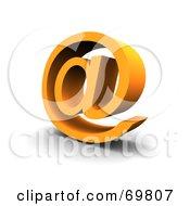Royalty Free RF Clipart Illustration Of An Angled Orange Arobase Symbol by Jiri Moucka