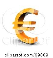 Angled Orange Euro Symbol