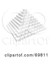 Royalty Free RF Clipart Illustration Of A White 3d Pyramid Of Blocks by Jiri Moucka