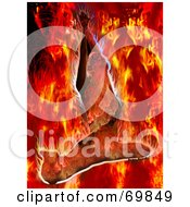 Royalty Free RF Clipart Illustration Of A Flaming Woman Background
