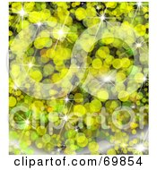 Royalty Free RF Clipart Illustration Of A Sparkly Yellow Background by MacX