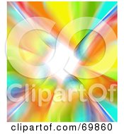 Royalty Free RF Clipart Illustration Of A Rainbow Vortex Background by MacX