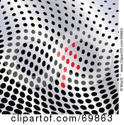 Royalty Free RF Clipart Illustration Of A Wavy Dot Background With An Arrow by MacX
