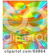 Ripply Rainbow Background