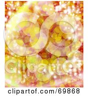 Royalty Free RF Clipart Illustration Of A Sparkly Background With Yellow And Red by MacX