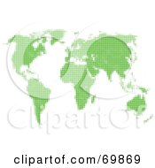 Royalty Free RF Clipart Illustration Of A Green World Atlas Map On White by MacX