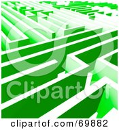 Royalty Free RF Clipart Illustration Of A Green Maze