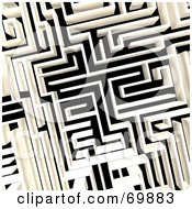 Royalty Free RF Clipart Illustration Of An Aerial Maze by MacX
