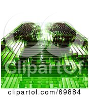Royalty Free RF Clipart Illustration Of A Green Glass Maze by MacX