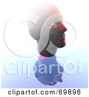 Royalty Free RF Clipart Illustration Of A Human Head With A Reflection by MacX