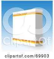 Royalty Free RF Clipart Illustration Of A Black Software Box On Blue