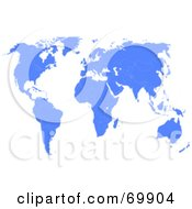 Royalty Free RF Clipart Illustration Of A Blue Atlas Map On White by MacX