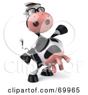Royalty Free RF Clipart Illustration Of A 3d Horton The Cow Dancing Pose 2 by Julos