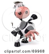 Royalty Free RF Clipart Illustration Of A 3d Horton The Cow Dancing Pose 4 by Julos