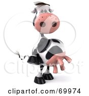 Royalty Free RF Clipart Illustration Of A 3d Horton The Cow Standing And Facing Right by Julos