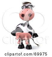 Royalty Free RF Clipart Illustration Of A 3d Horton The Cow Dancing Pose 1