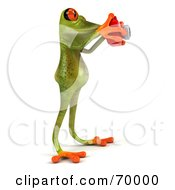 3d Green Tree Frog Taking Pictures Pose 2 by Julos