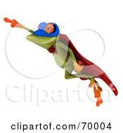 3d Green Tree Frog Super Hero Pose 8 by Julos