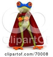 3d Green Tree Frog Super Hero Pose 1 by Julos