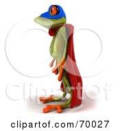 3d Green Tree Frog Super Hero Pose 2 by Julos