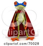 3d Green Tree Frog Super Hero Pose 3 by Julos
