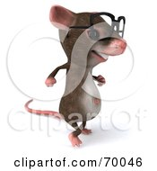 3d Mouse Character Wearing Spectacles Pose 3 by Julos
