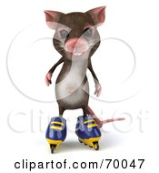 3d Mouse Character Roller Blading Pose 2 by Julos