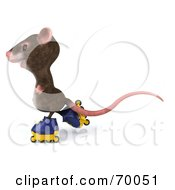 3d Mouse Character Roller Blading Pose 4 by Julos