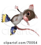 3d Mouse Character Roller Blading Pose 7 by Julos