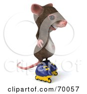 3d Mouse Character Roller Blading Pose 1 by Julos
