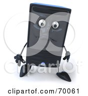 Royalty Free RF Clipart Illustration Of A 3d Computer Tower Character With A Sad Face
