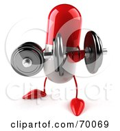 3d Red Pill Character Lifting Weights by Julos