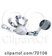 3d Techno Robot Hand Gesturing A Ok