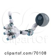 3d Techno Robot Hand Holding A Thumb Up by Julos