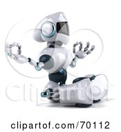 Royalty Free RF Clipart Illustration Of A 3d Techno Robot Character Meditating Pose 1