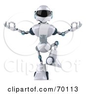 Royalty Free RF Clipart Illustration Of A 3d Techno Robot Character Meditating Pose 2