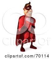 3d Red Super Hero Guy Standing Pose 2 by Julos