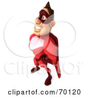 3d Red Super Hero Guy Standing Pose 4 by Julos