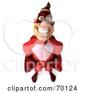 3d Red Super Hero Guy Standing Pose 3 by Julos