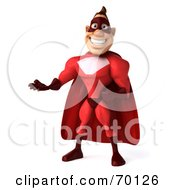3d Red Super Hero Guy Gesturing Pose 1 by Julos