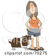 Royalty Free RF Clipart Illustration Of A Springer Spaniel Dog Biting A Woman