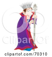 Royalty Free RF Clipart Illustration Of An Evil Airbrushed Creepy King by Alex Bannykh