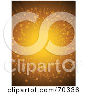 Royalty Free RF Clipart Illustration Of A Golden Burst Background With Particles