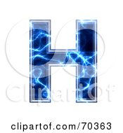 Royalty Free RF Clipart Illustration Of A Blue Electric Symbol Capital H