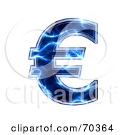 Royalty Free RF Clipart Illustration Of A Blue Electric Symbol Euro by chrisroll