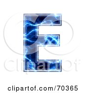 Royalty Free RF Clipart Illustration Of A Blue Electric Symbol Capital E by chrisroll