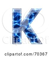 Royalty Free RF Clipart Illustration Of A Blue Electric Symbol Capital K by chrisroll