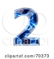 Royalty Free RF Clipart Illustration Of A Blue Electric Symbol Number 2 by chrisroll