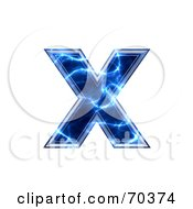 Royalty Free RF Clipart Illustration Of A Blue Electric Symbol Lowercase X by chrisroll