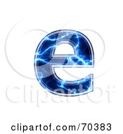 Royalty Free RF Clipart Illustration Of A Blue Electric Symbol Lowercase E by chrisroll
